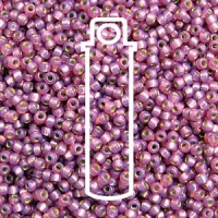 Miyuki 11/0 Seed Beads Duracoat Galv.Silver Lined Lilac 23g