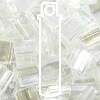 Tila 5x5mm 2 hole beads Crystal Luster 7.2g