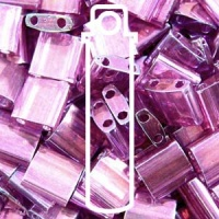Tila 5x5mm 2 hole beads Amy Gold Luster 7.2g