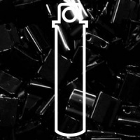 Tila 5x5mm 2 hole beads Black 7.2g