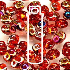Czech Superduo Beads 2.5x5mm 24g tube - Hyacint Sliperit