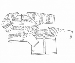 Isager baby cardigan knitting pattern October