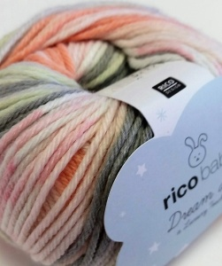 Rico Baby Dream DK - pale pink, peach, cream, grey, lemon