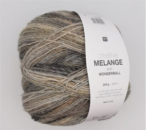 Rico Creative Melange Aran 200g - Grey and Ecru