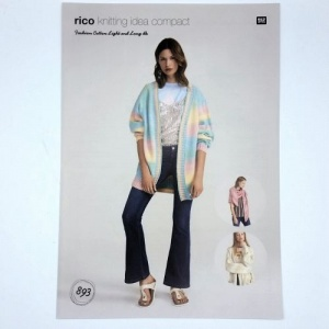 Rico Design knitting pattern leaftlet for cardigan 893