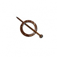 Small round coconut shawl pin 55mm