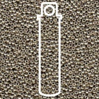 Miyuki Seed Beads 8/0 Duracoat Galvanized Light Smokey Pewter 22g