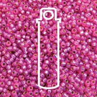 Miyuki 11/0 Seed Beads Duracoat Galv.Silver Lined Dusty Rose 23g