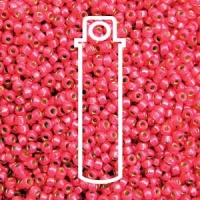 Miyuki 11/0 Seed Beads Duracoat Galv.Silver Lined Hot Pink 23g