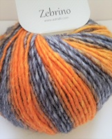 Adriafi Zebrino ( Aran / worsted) yarn 50g ball - yellow, orange