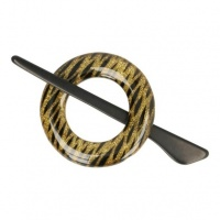 Round shawl pin 70mm - gold, black