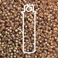Miyuki 8/0 Seed Beads Duracoat Galv.Silver Lined Tan 22g