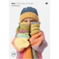 Rico Knitting pattern for kids hat and wrist warmers
