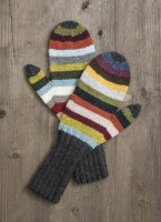 Blue Sky Fibers knitting pattern 21 Colour Mittens