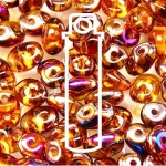 Czech Superduo Beads 2.5x5mm 24g tube - Topaz Sliperit