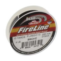 Fireline Braided Beading Tread 6 lbs.test 15 yards - BLACK