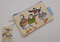WOOLLY PUFFINS ZIPPED PURSE