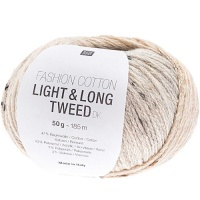 Rico Fashion Cotton Light and Long Tweed - light blue
