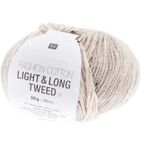 Rico Fashion Cotton Light and Long Tweed - grey