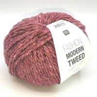 Rico Fashion Modern Tweed Aran - berry
