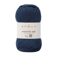 Rowan Summerlite 4ply 100% cotton 50g - Navy Ink