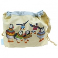 WOOLLY PUFFINS DRAW STRING BAG