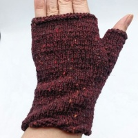 Fingerles Gloves knitting kit using Rowan Cashmere Tweed