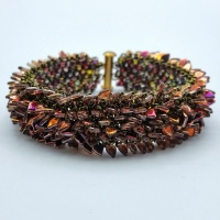 Beading kit - Dragonscale bracelet sliperit and olive