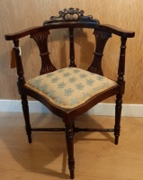 Edwardian corner chair