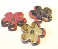 Greek Enameled Ceramic  Flowers 25mm