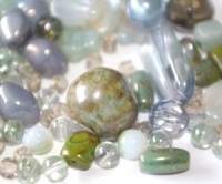 Czech Glass Bead mix 250g grey