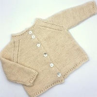 Isager yarns baby cardigan knitting kit - Carl & Caroline