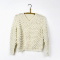 Isager jumper knitting pattern - Pearls