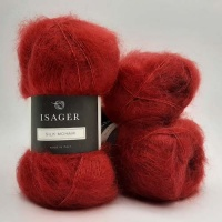 Isager Yarns Silk Mohair - red
