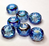 TOURQUISE half AB coated large hole beads