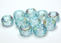 MINTgreen half AB coated large hole beads