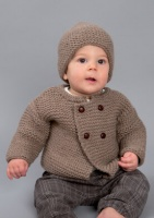 Rico knitting pattern for baby jacket and hat 333