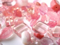 Czech Glass Bead mix 250g pink