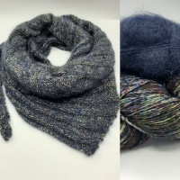 Not Frilly Scarf Kit in Midnight