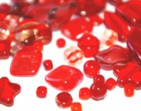 Czech Glass Bead mix 250g red