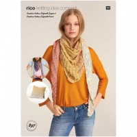 Rico design knitting pattern for Cotton Degrade shawl
