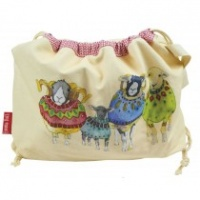 WOOLLY SHEEP IN SWEATERS DRAW STRING BAG