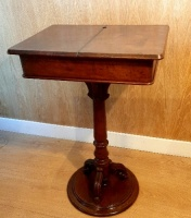 Victorian Mahogany Ladies work box on stand