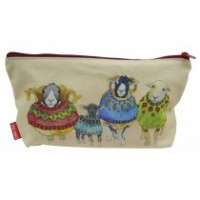 WOOLLY SHEEP IN SWEATERS ZIPPED POUCH
